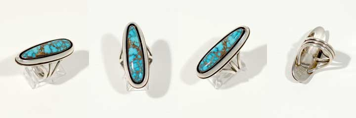 Victor Beck turquoise ring