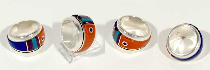 Charles Supplee inlay silver ring