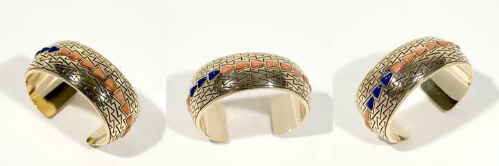 Harvey Begay gold bracelet