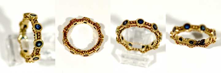 Luna Felix gold and sapphire ring