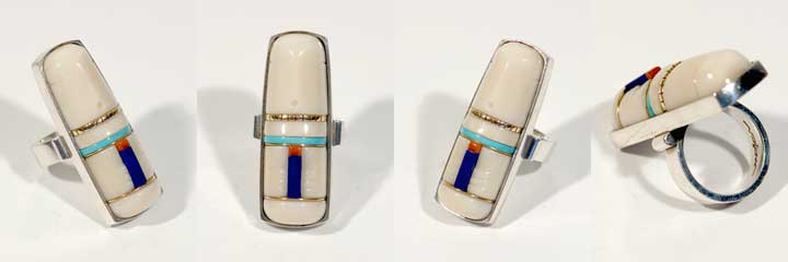 Luis Mojica inlay silver ring