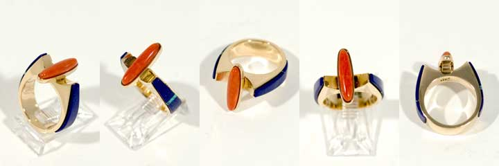 Richard Chavez coral gold ring