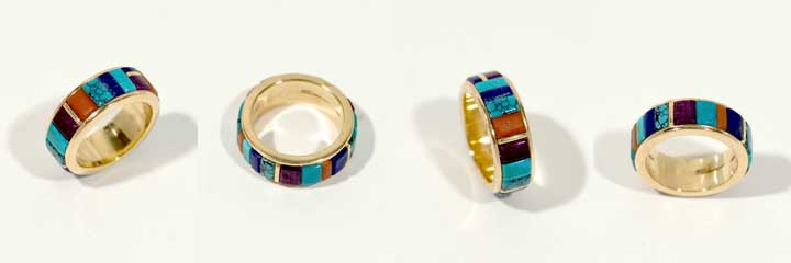 Sonwai gold inlay ring