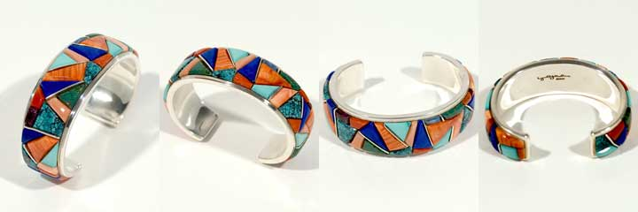 Lyonel Yellowhorse inlay bracelet